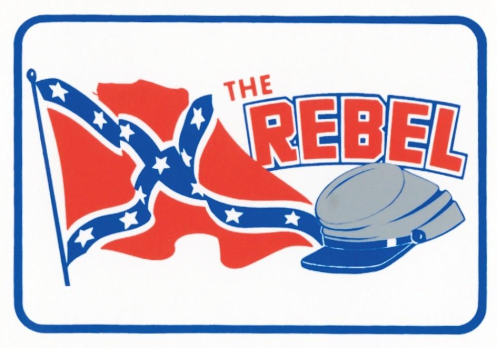 Aufkleber The Rebel 110 x 70 mm – Bild 1