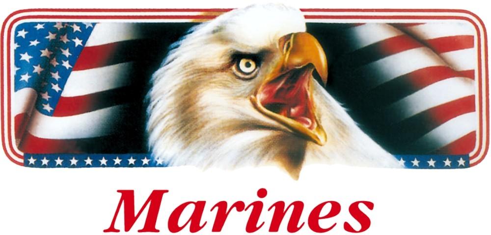 Aufkleber Marines Adler mit Flagge 170 x 90 mm – Bild 1