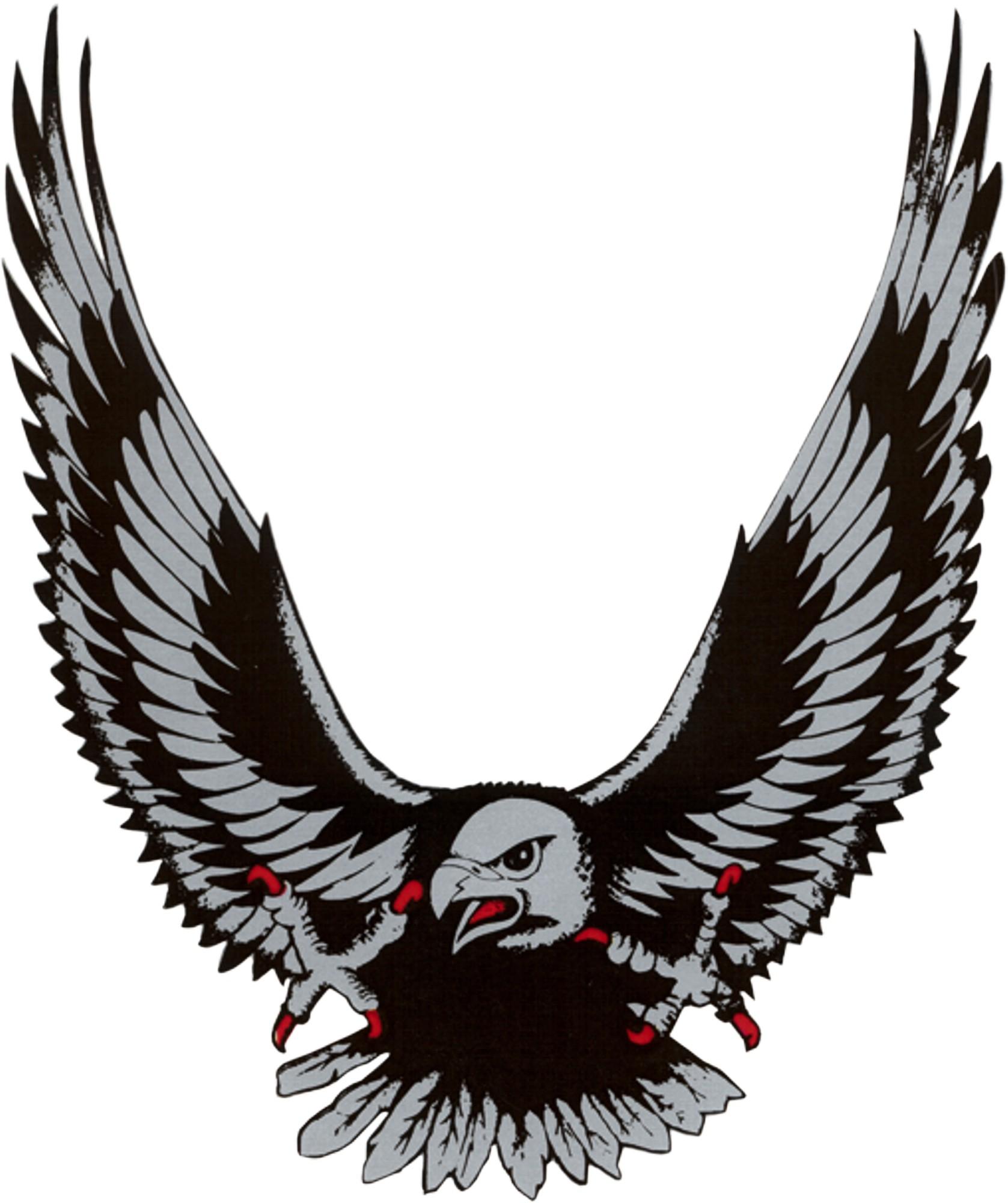 Aufkleber Adler silber 145 x 120 mm – Bild 1