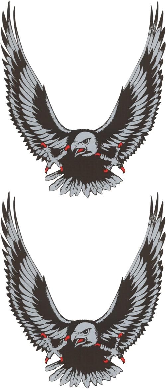 Aufkleber Adler silber 2er-Set 145 x 70 mm – Bild 1