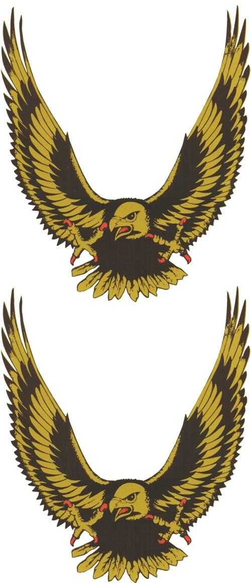Aufkleber Adler gold 2er-Set 145 x 70 mm – Bild 1