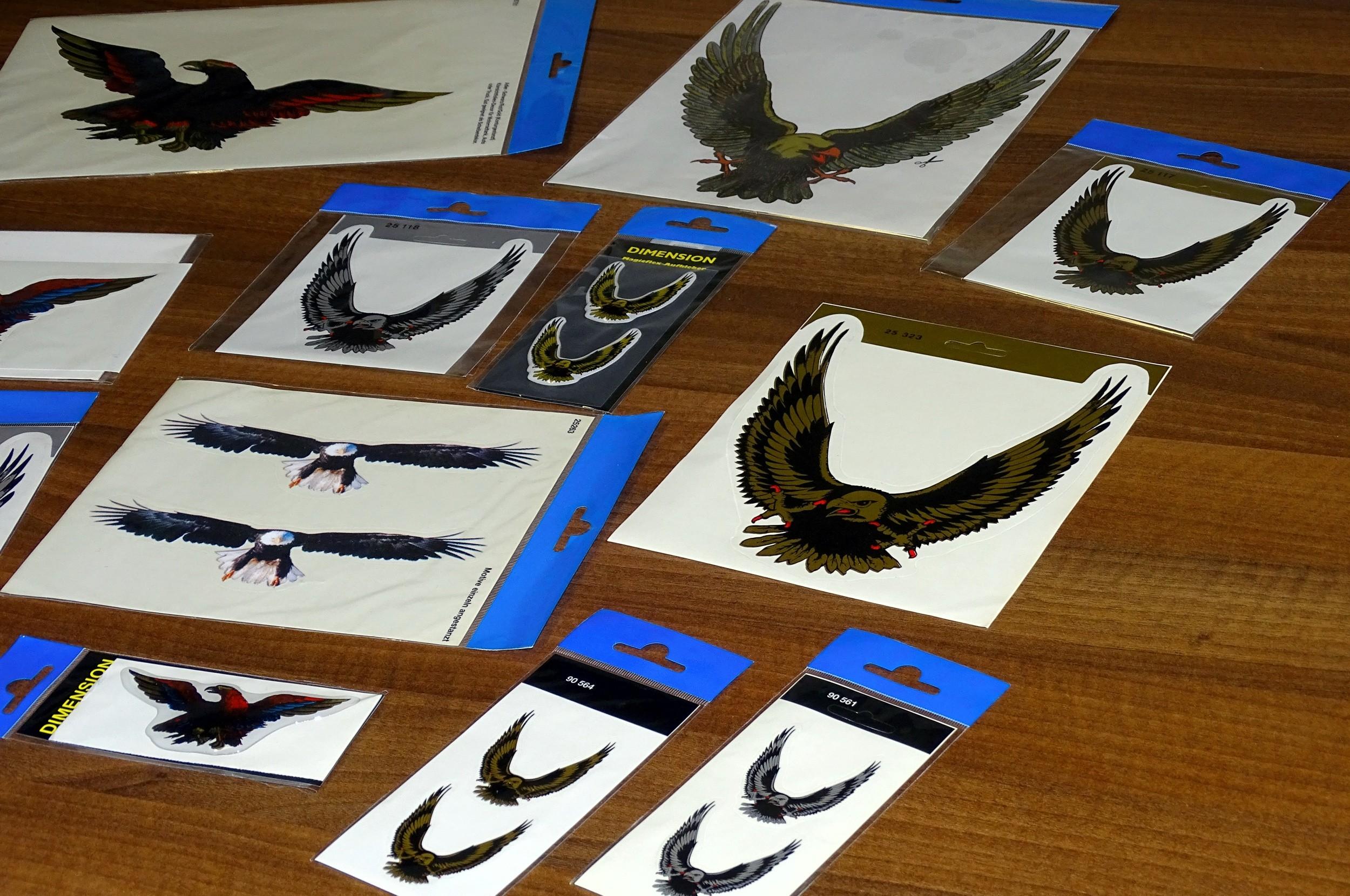 Aufkleber Adler im Flug 2er-Set – Bild 4