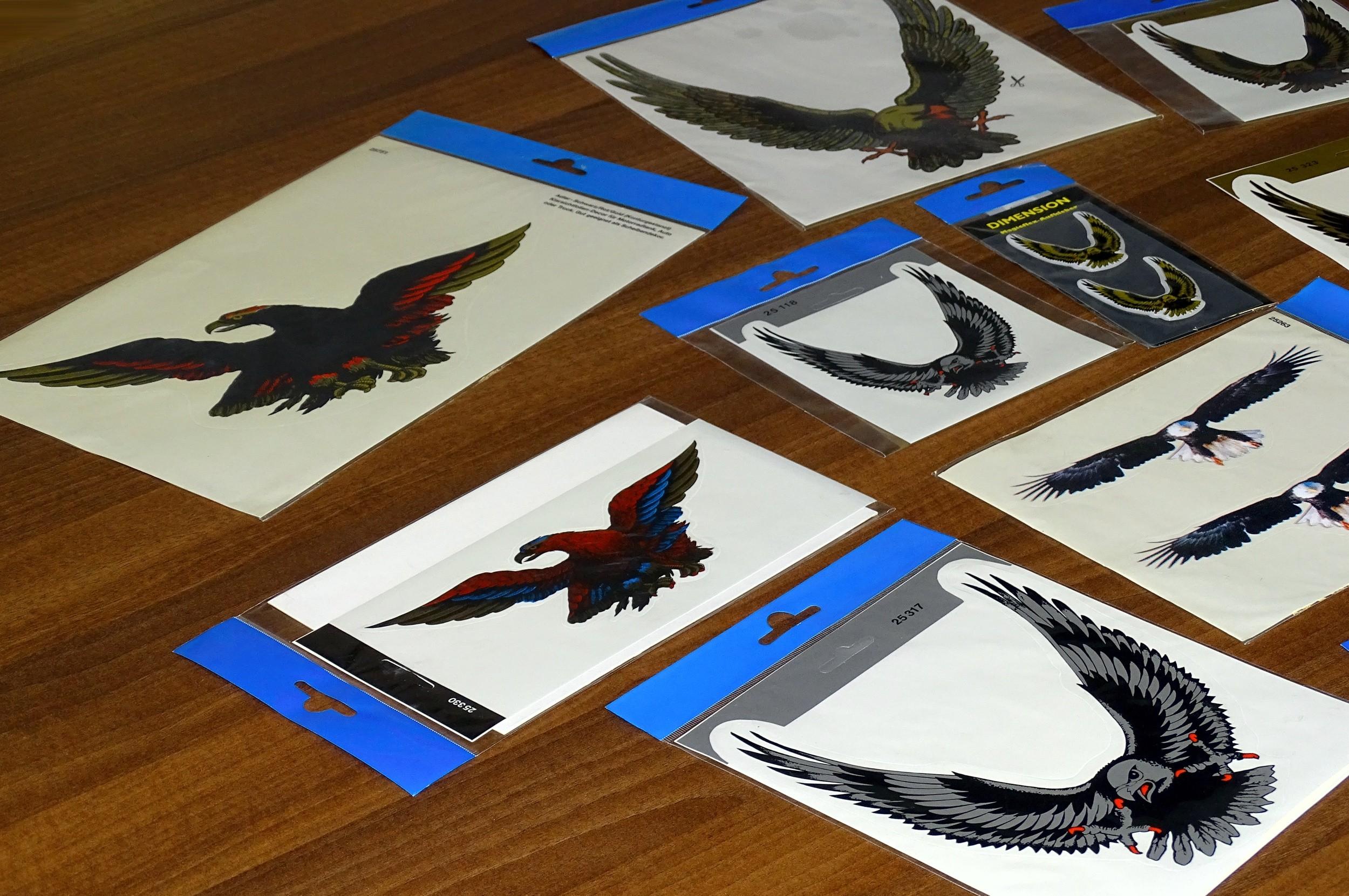 Aufkleber Adler schwarz/rot/gold 310 x 210 mm – Bild 3