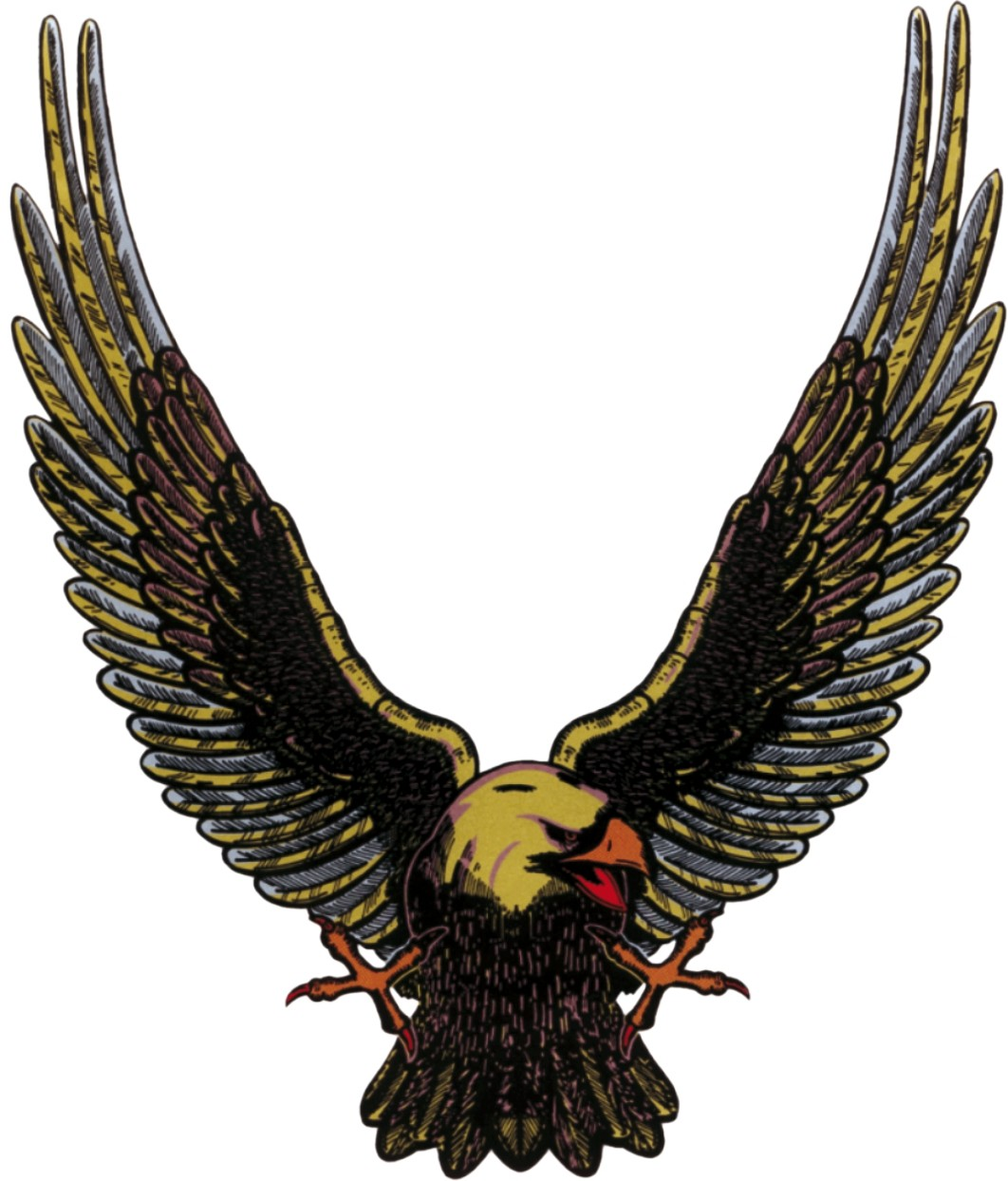 Sticker eagle gold 250 x 210 mm