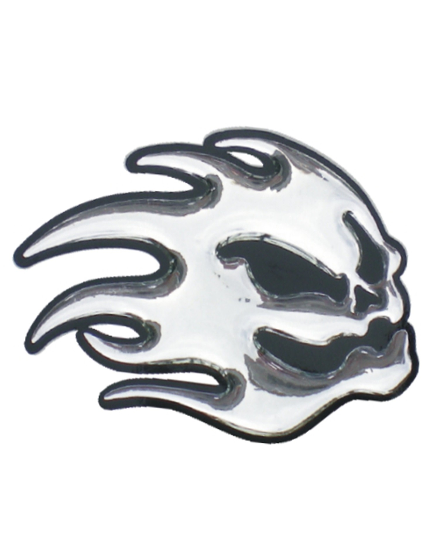 3D-Chrome-Sticker Ghost 35 x 50 mm – Bild 1