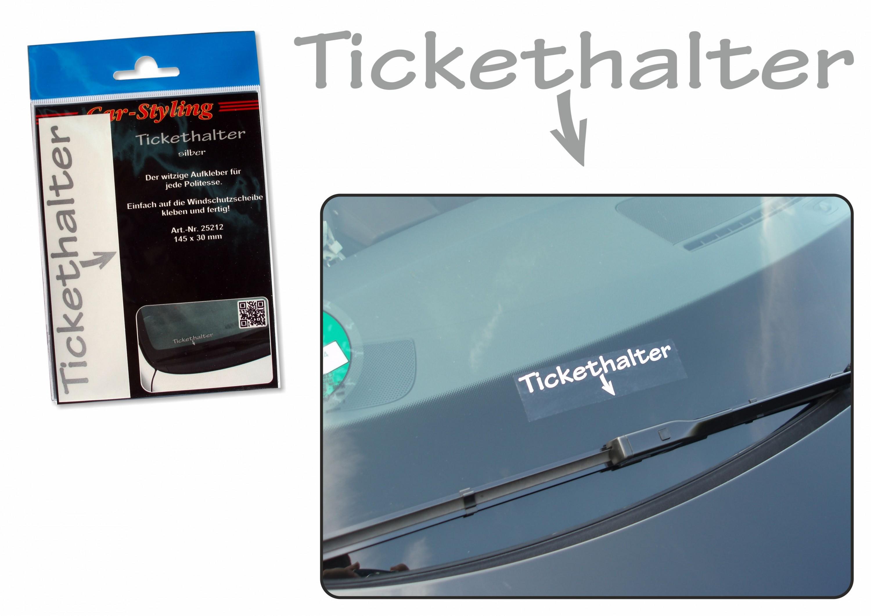 Aufkleber Spiegel- und Car-Tattoo Tickethalter – Bild 4