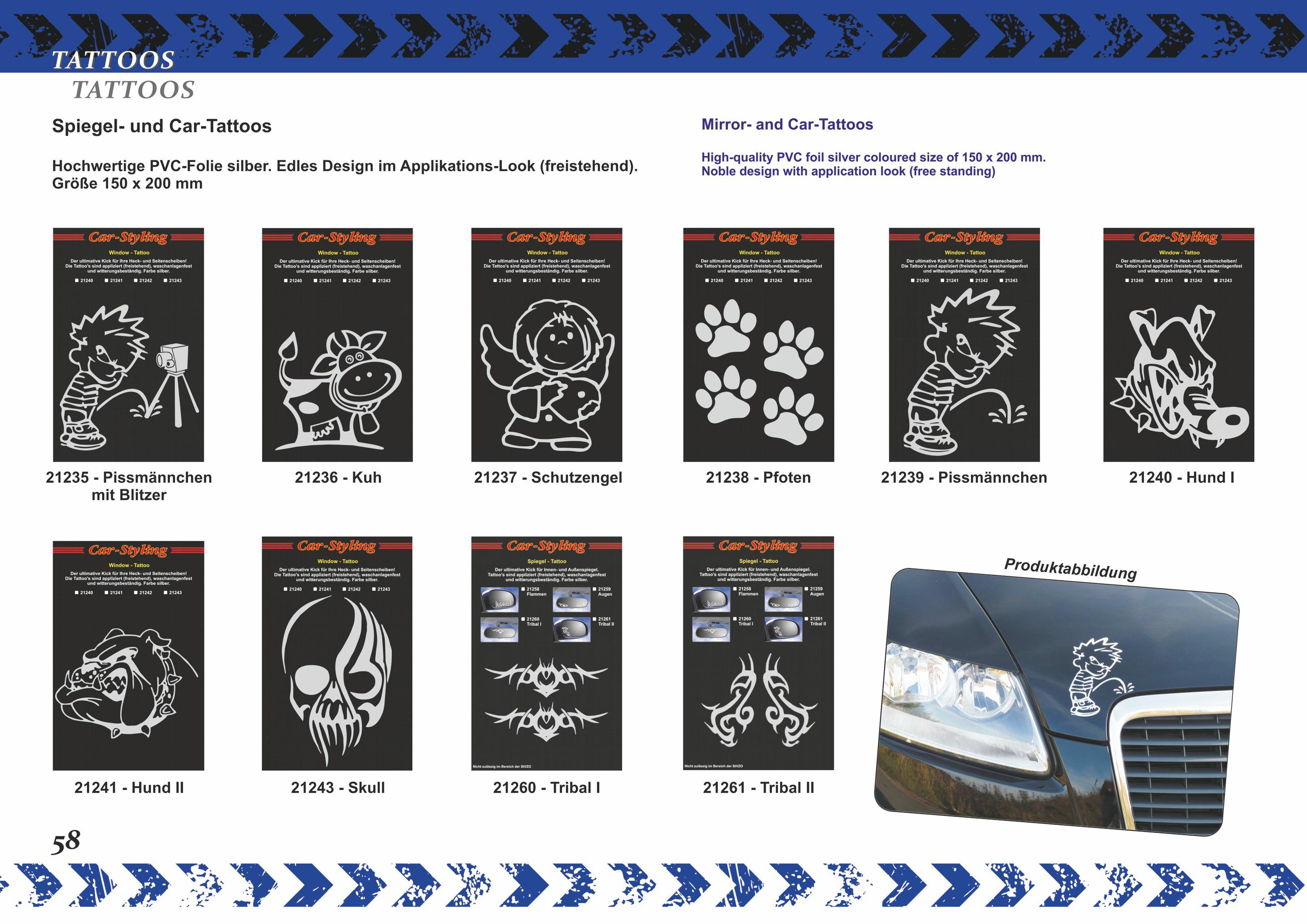 Aufkleber Spiegel- und Car-Tattoo Polizeikontrolle – Bild 7