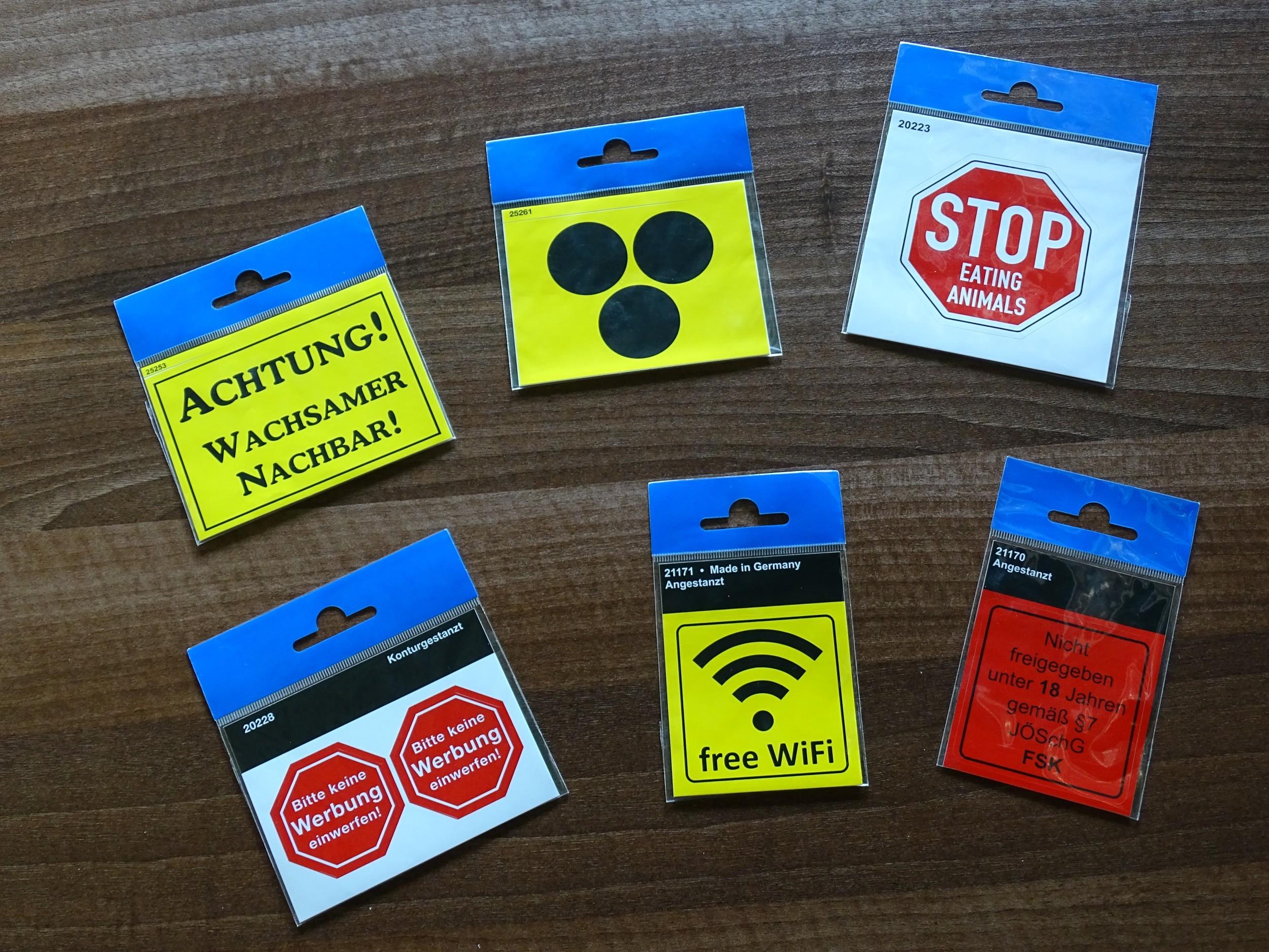 Sticker Achtung! Wachsamer Nachbar! yellow – Bild 2