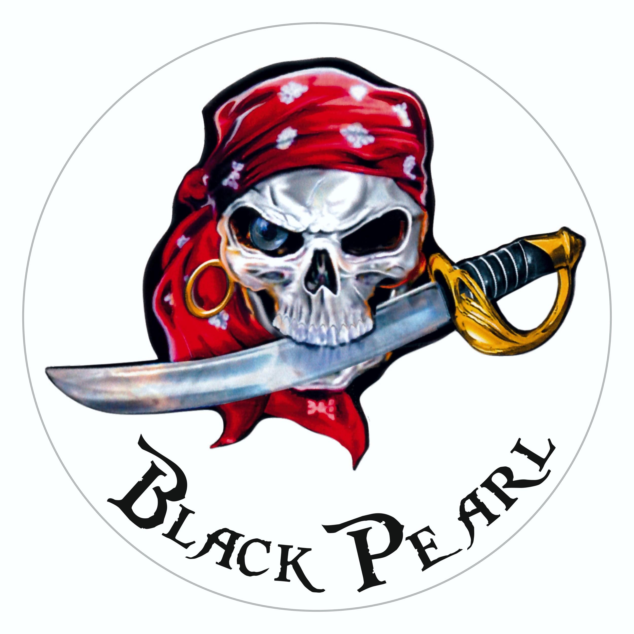 Aufkleber Black Pearl transparent Ø 120 mm – Bild 1