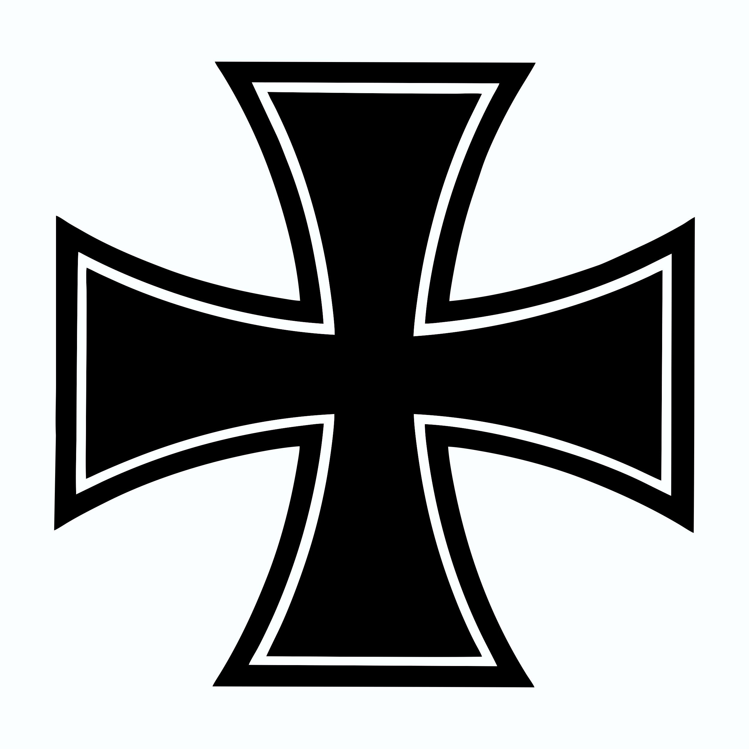 Autocollant croix en fer 140 x 140 mm – Bild 1