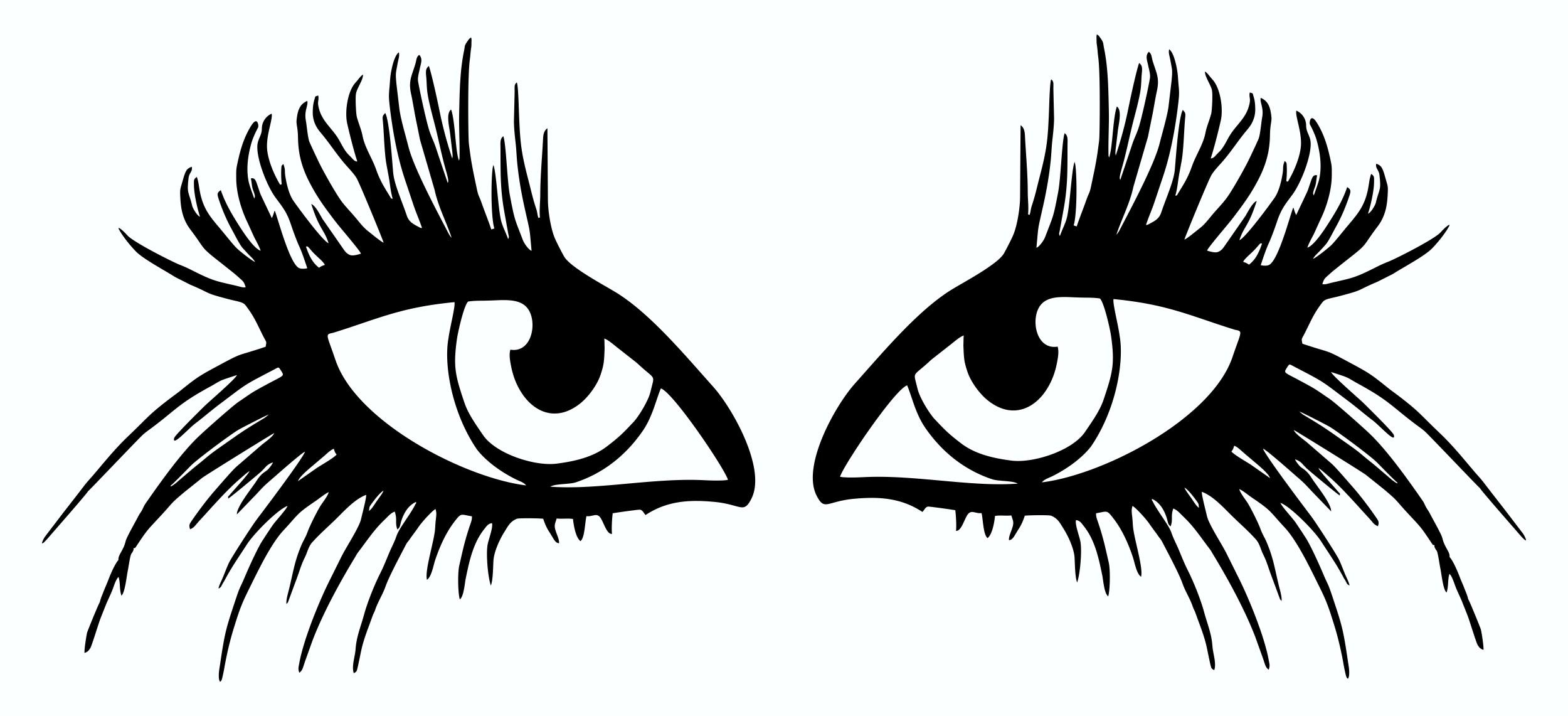 Autocollant mauvais œil set de 2 droite/gauche 140 x 220 mm – Bild 1