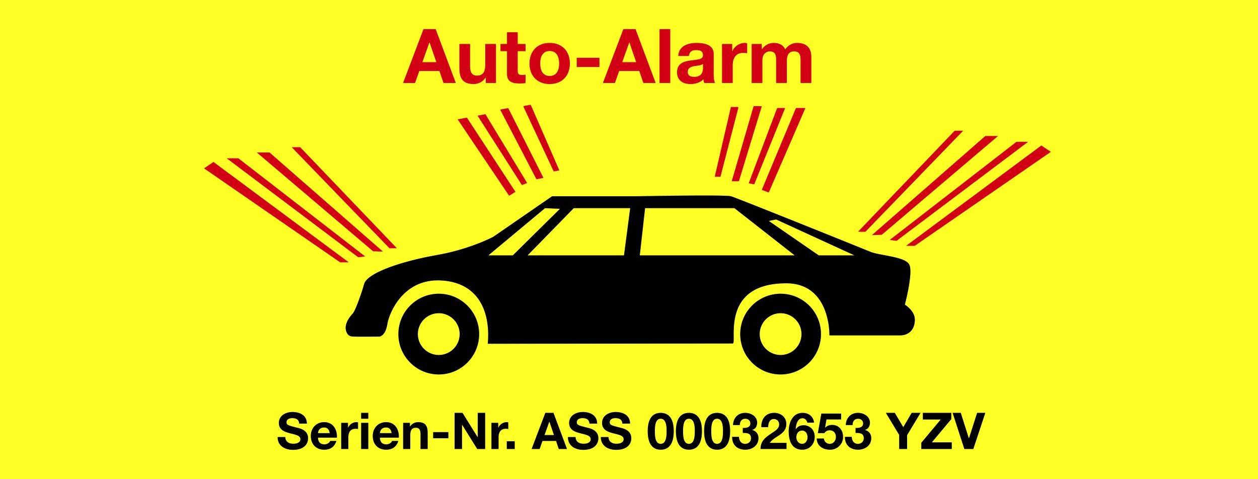 Aufkleber Auto-Alarm – Bild 1