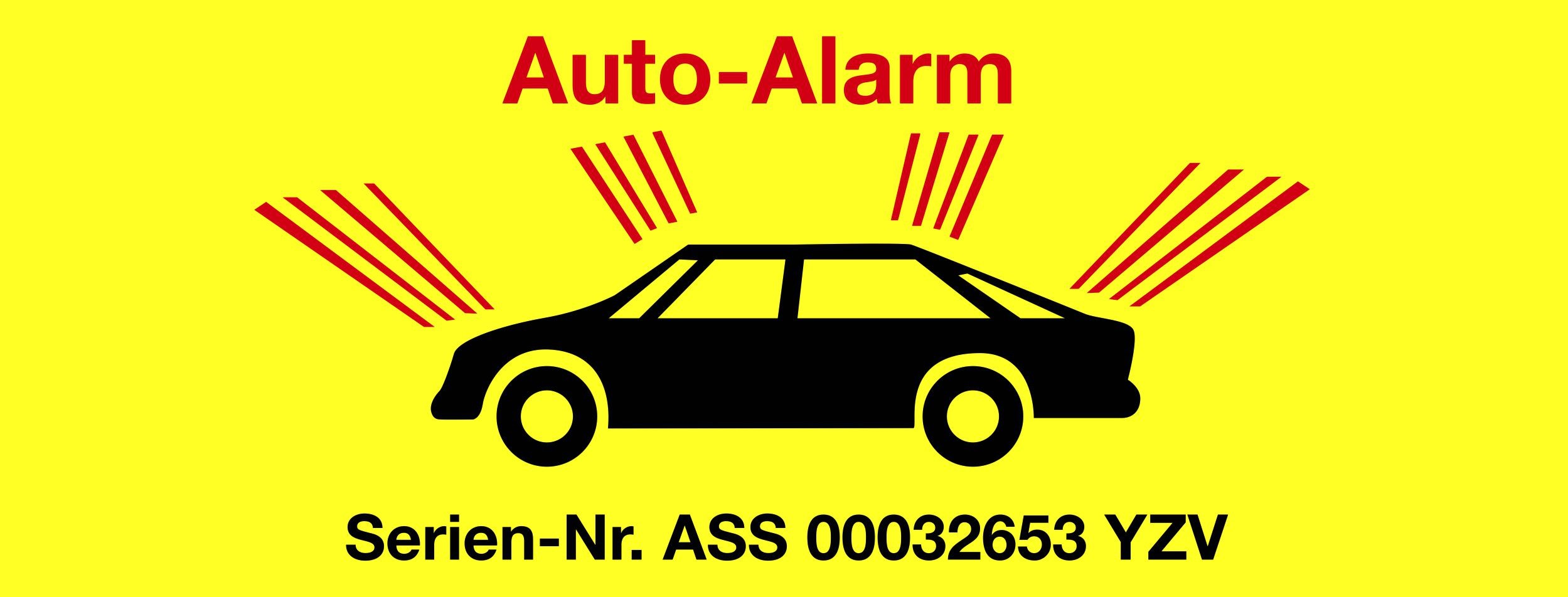 Sticker Auto-Alarm