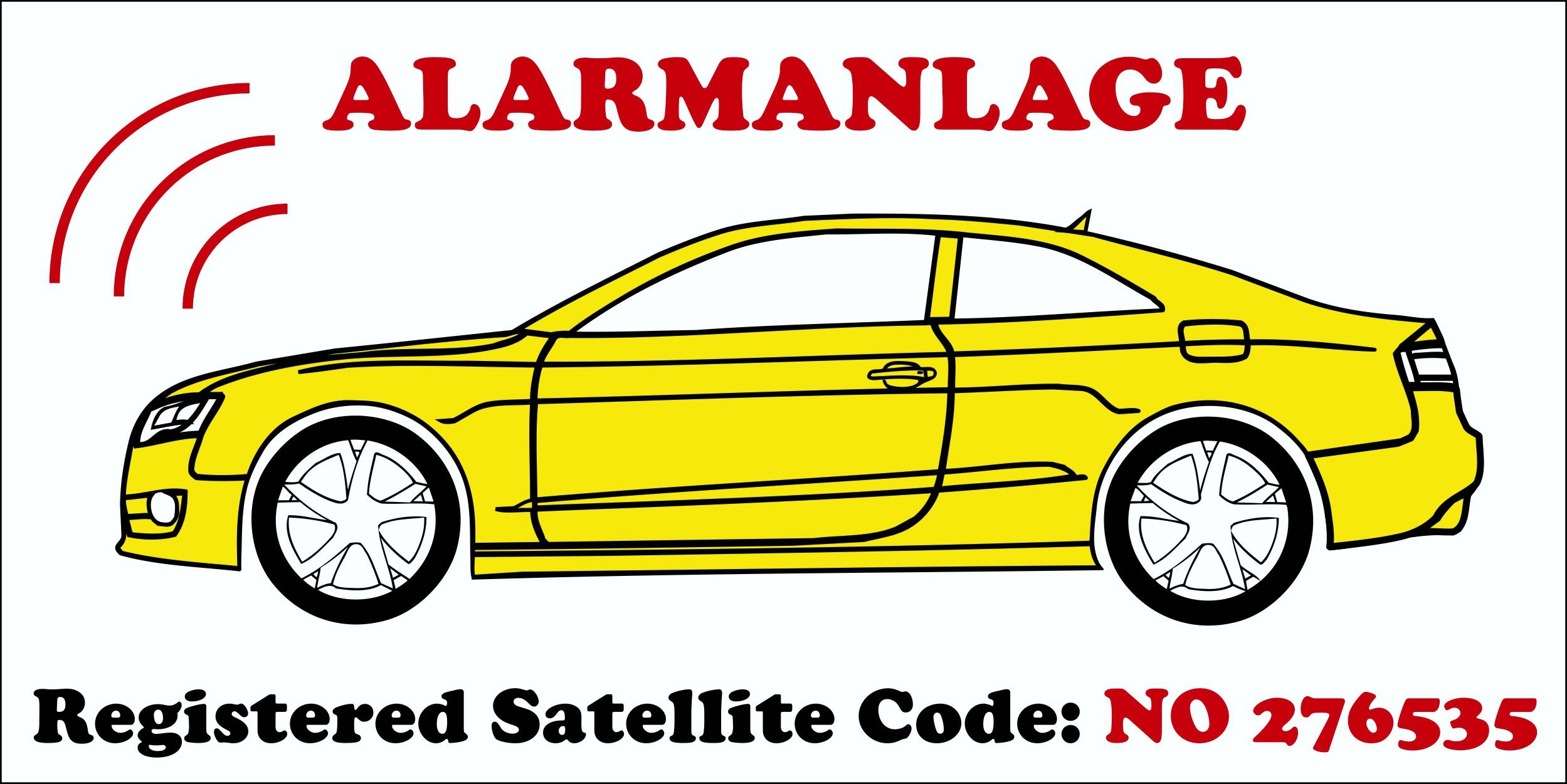 Sticker Alarmanlage Satellite