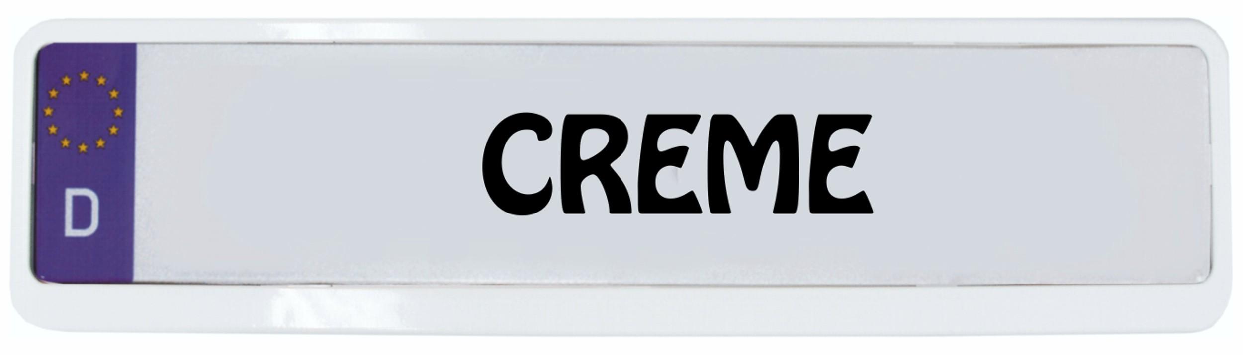 Cadre pour plaque d'immatriculation design crème 1 pièce – Bild 1