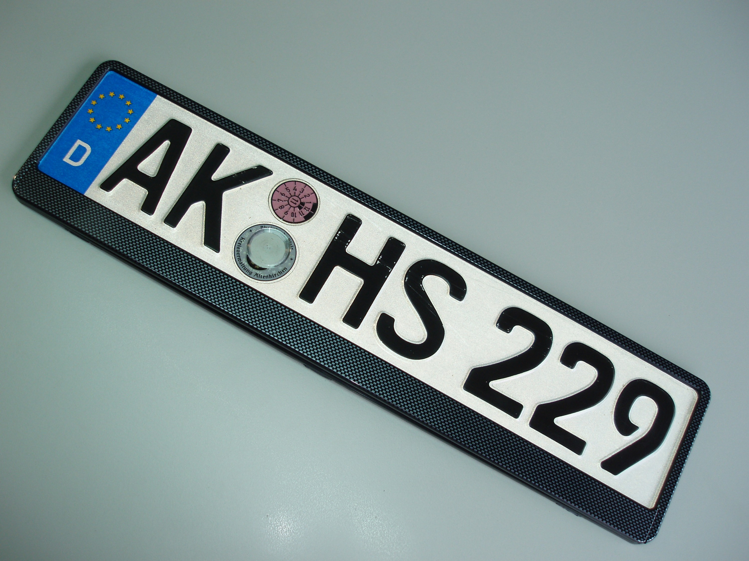Design number plate frame carbon 1 piece – Bild 4