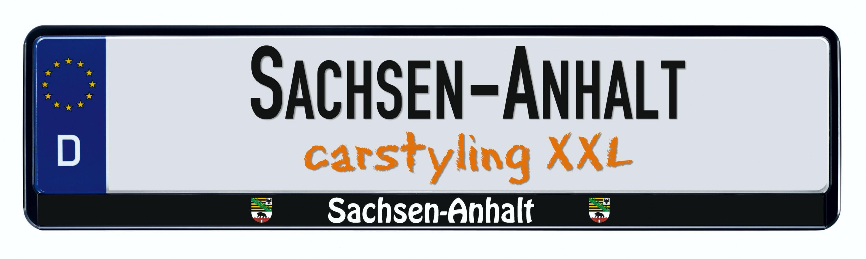 Design Kennzeichenrahmen Bundesland Sachsen-Anhalt  1 Stück – Bild 1