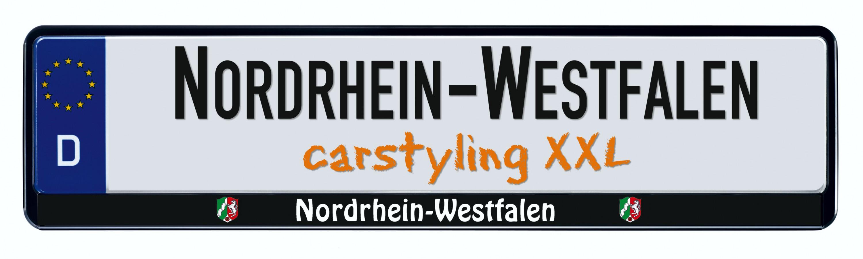 Cadre pour plaque d'immatriculation design état regional Nordrhein Westfalen 1 pièce – Bild 1