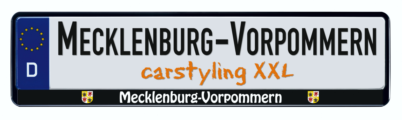 Cadre pour plaque d'immatriculation design état regional Mecklenburg-Vorpommern 1 pièce – Bild 1