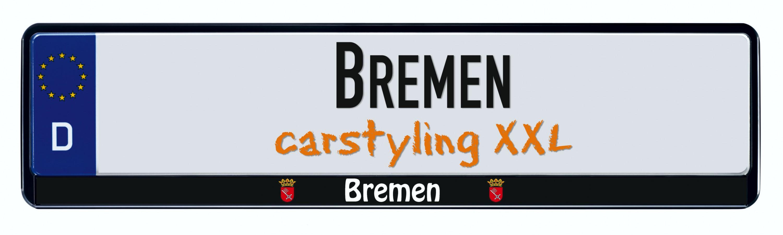 Cadre pour plaque d'immatriculation design état regional Bremen 1 pièce – Bild 1