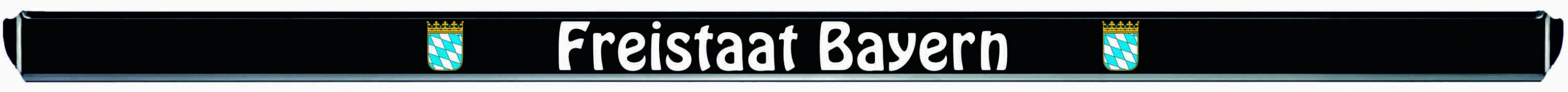 Design number plate frame federal state Freistaat Bayern 1 piece – Bild 2