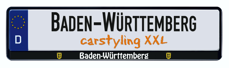 Cadre pour plaque d'immatriculation design état regional Baden-Württemberg 1 pièce – Bild 1