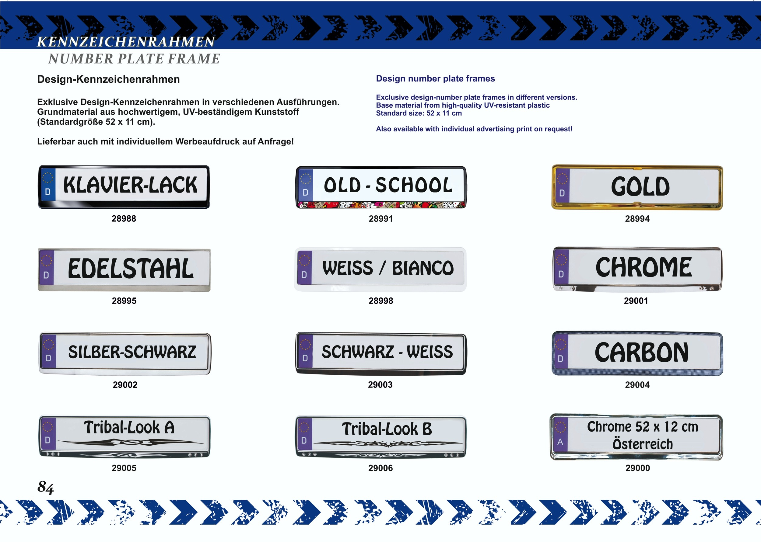 Cadre pour plaque d'immatriculation design état regional Freistaat Thüringen 1 pièce – Bild 3