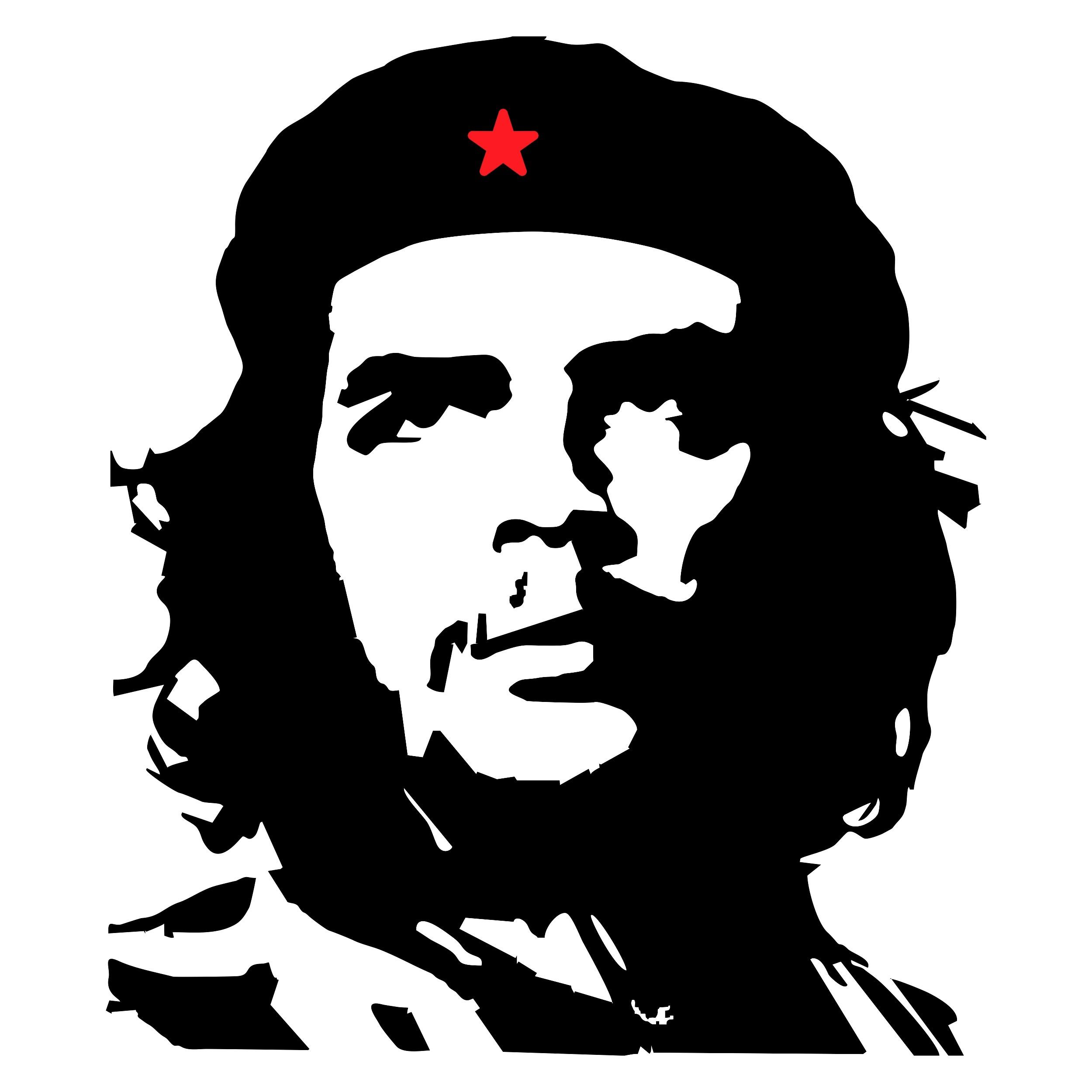Adhesivo Che Guevara contorno 135 x 110 mm