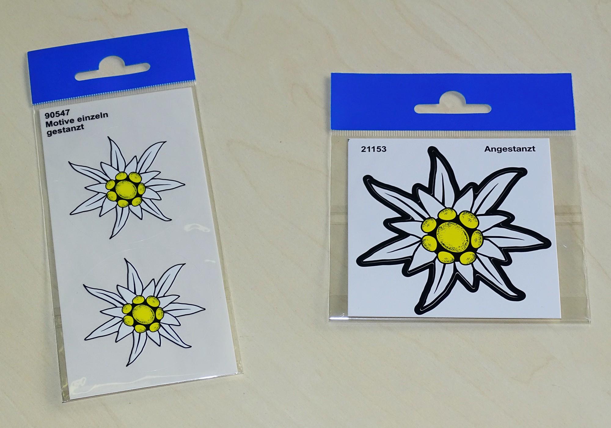 Aufkleber Edelweiss 90 x 90 mm – Bild 2