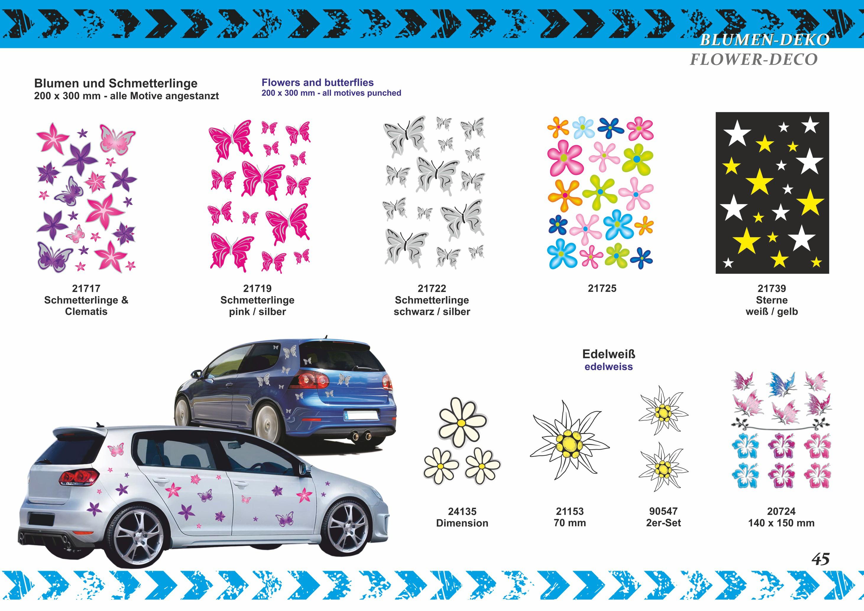 Sticker edelweiss 90 x 90 mm – Bild 3