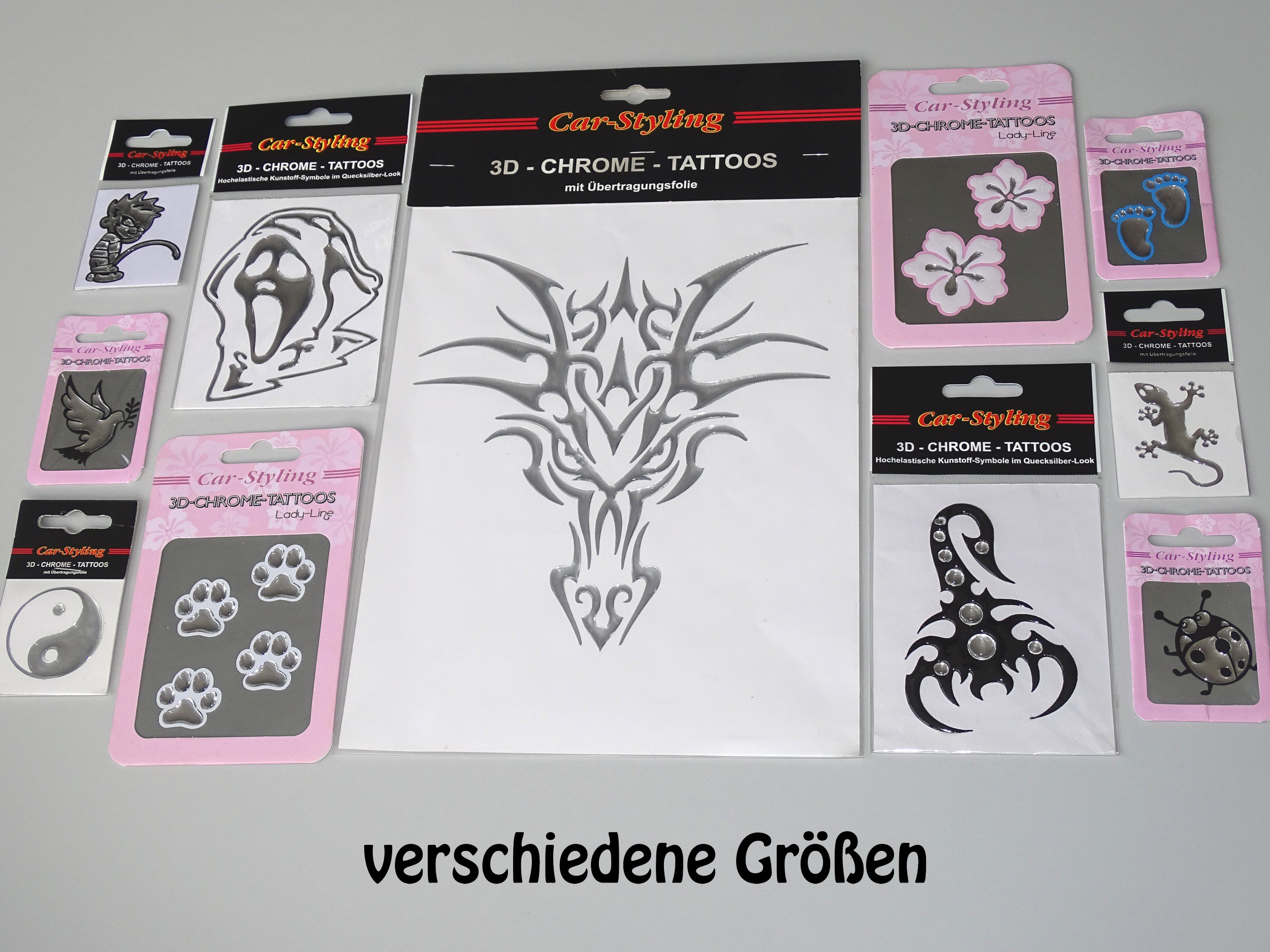 3D-Chrome-Sticker Skorpion 50 x 40 mm – Bild 3