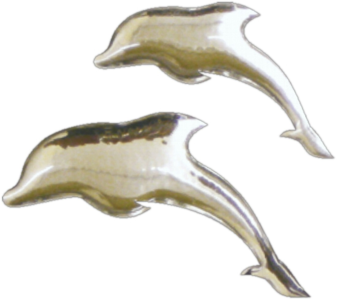 3D-Chrome-Sticker dolphins 20 x 30 mm and 25 x 40 mm – Bild 1