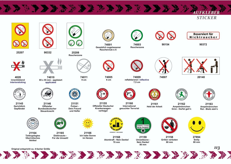 Sticker Umweltzone - Nein Danke! Ø 80 mm – Bild 3