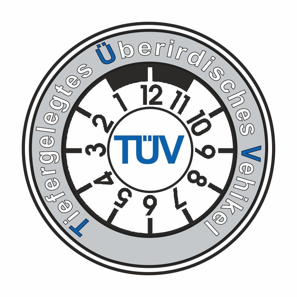 Aufkleber TÜV - Tiefergelegtes Überirdisches Vehikel Ø 60 mm 001