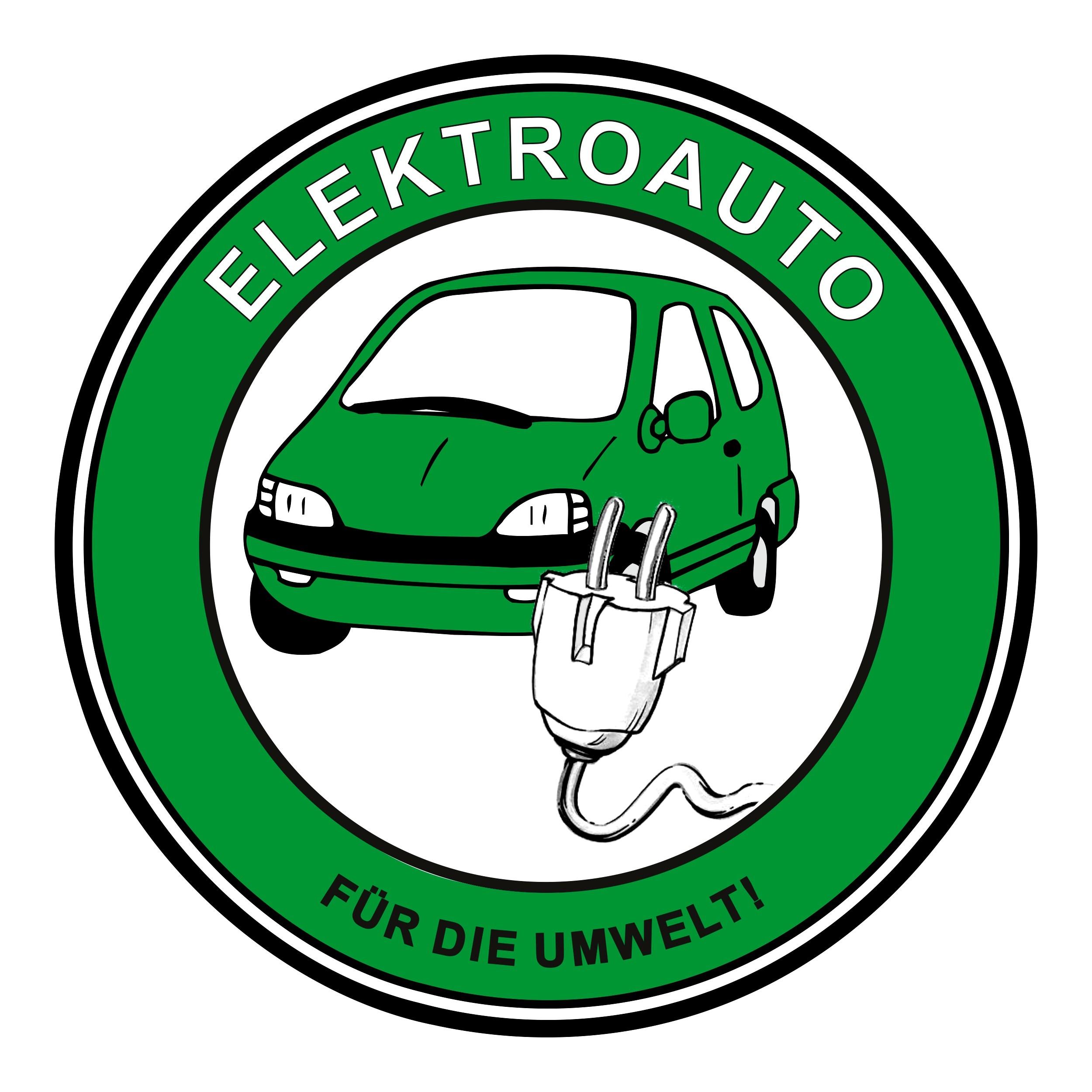 Aufkleber Elektroauto - Für die Umwelt! Ø 60 mm