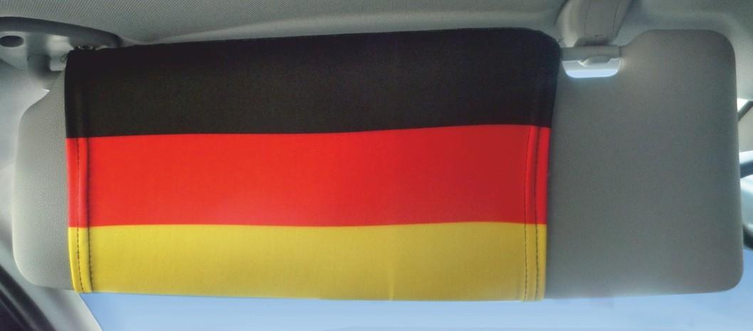Sonnenblendenflagge 2er-Set Deutschland Deutschland Fanartikel Olympia – Bild 1