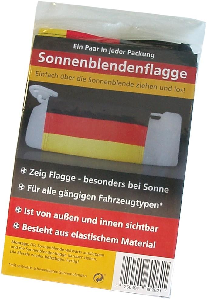 Sonnenblendenflagge 2er-Set Deutschland Deutschland Fanartikel Olympia – Bild 2