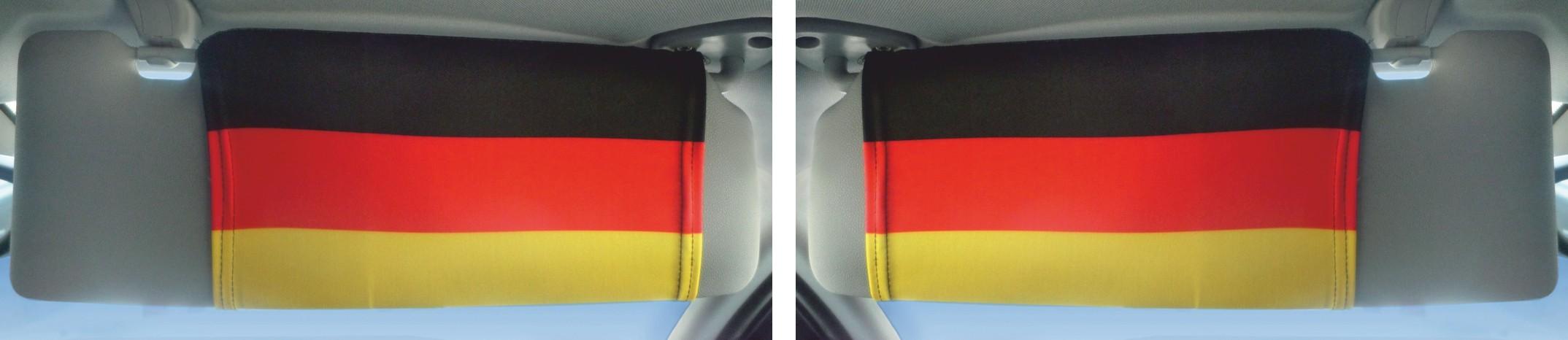 Sonnenblendenflagge 2er-Set Deutschland Deutschland Fanartikel Olympia – Bild 3