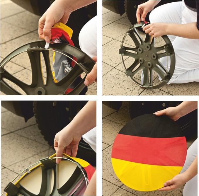 Radsocke 4er-Set Deutschland Fanartikel Olympia – Bild 2