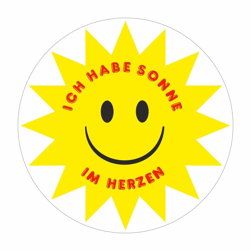 Aufkleber Ich habe Sonne im Herzen Ø 60 mm – Bild 1