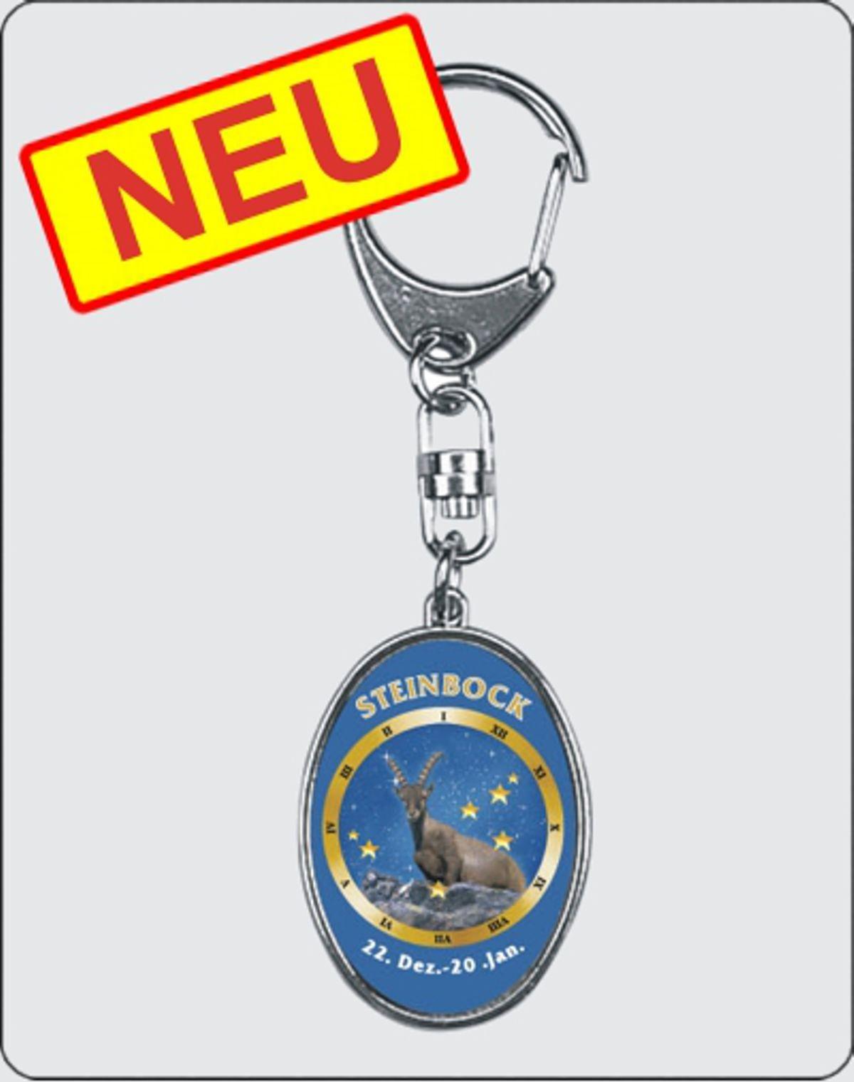 Schlüsselanhänger Sternzeichen Steinbock 40 x 30 mm – Bild 1