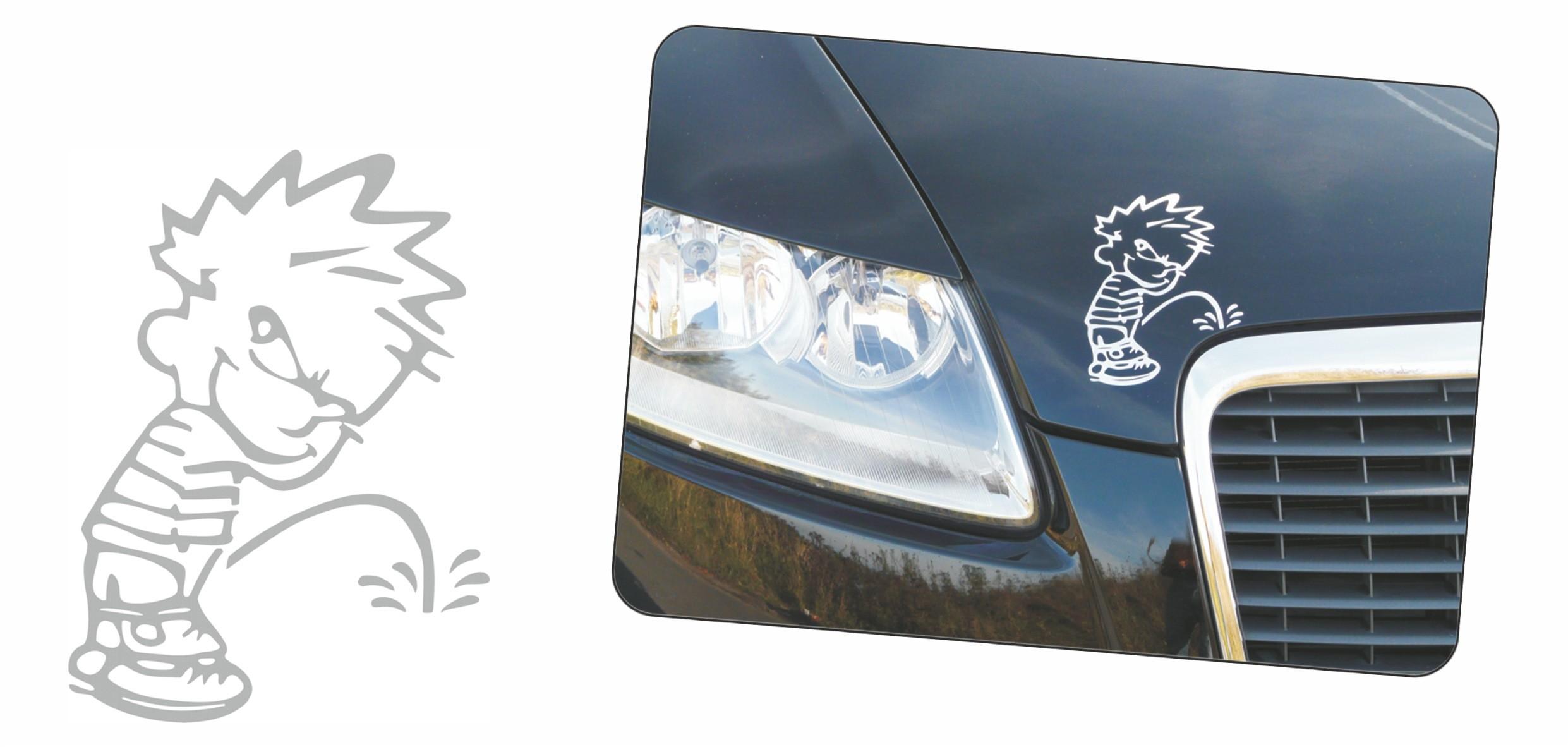 carstyling XXL Car-Tattoo Gekko 365 x 160 mm noir