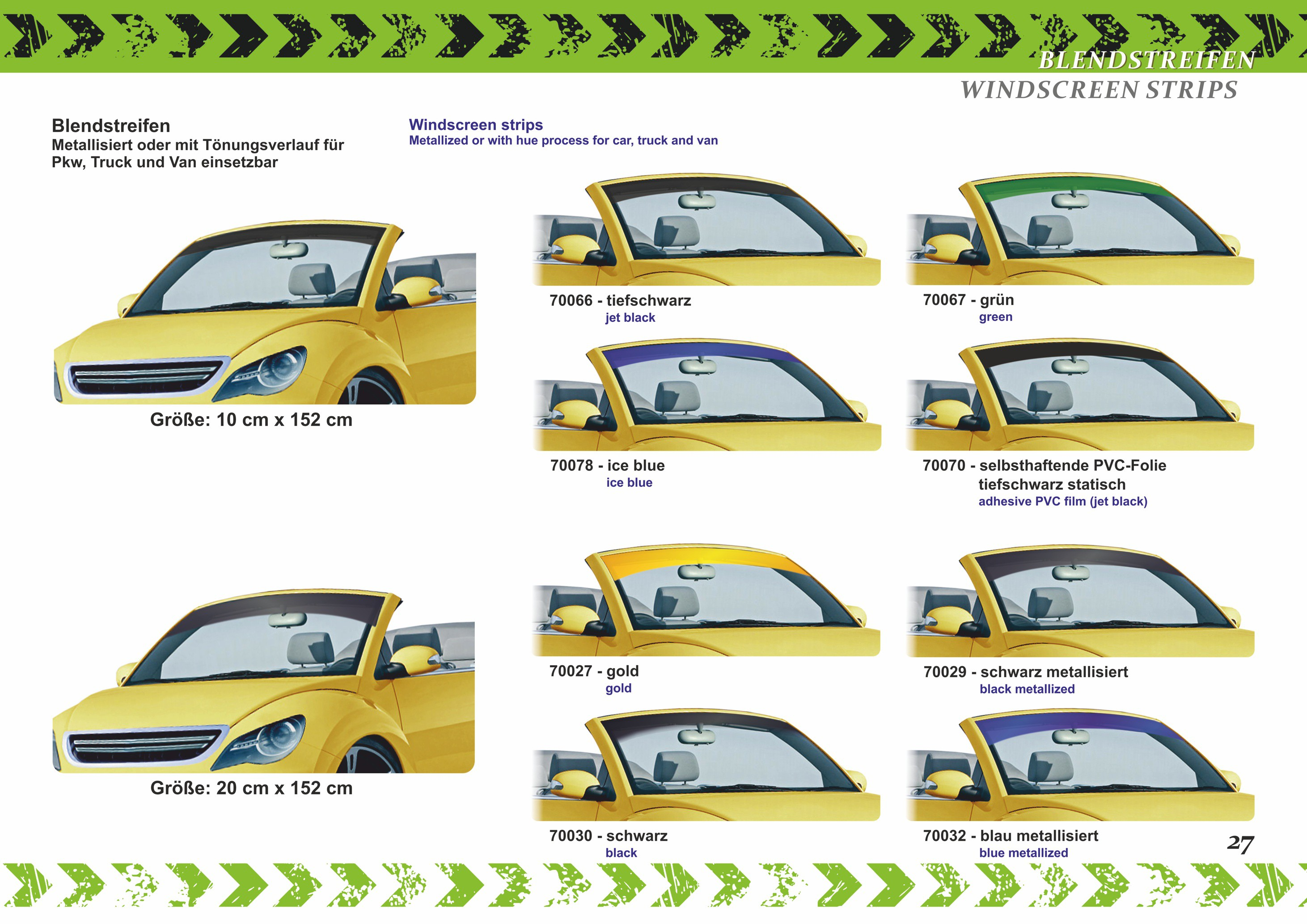 Car-window-film Virgin green set 76 x 152 cm and 51 x 152 cm – Bild 7