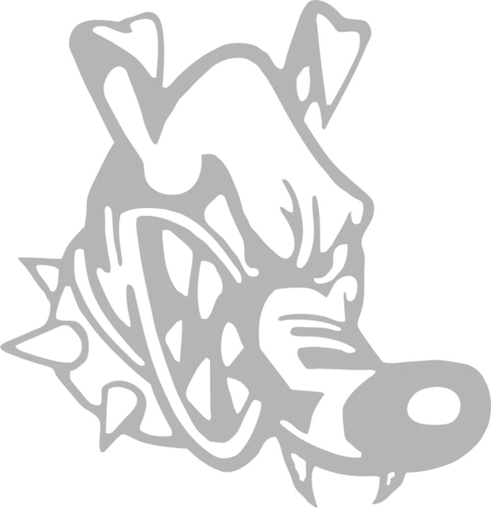 Sticker mirror- and car-tattoo dog