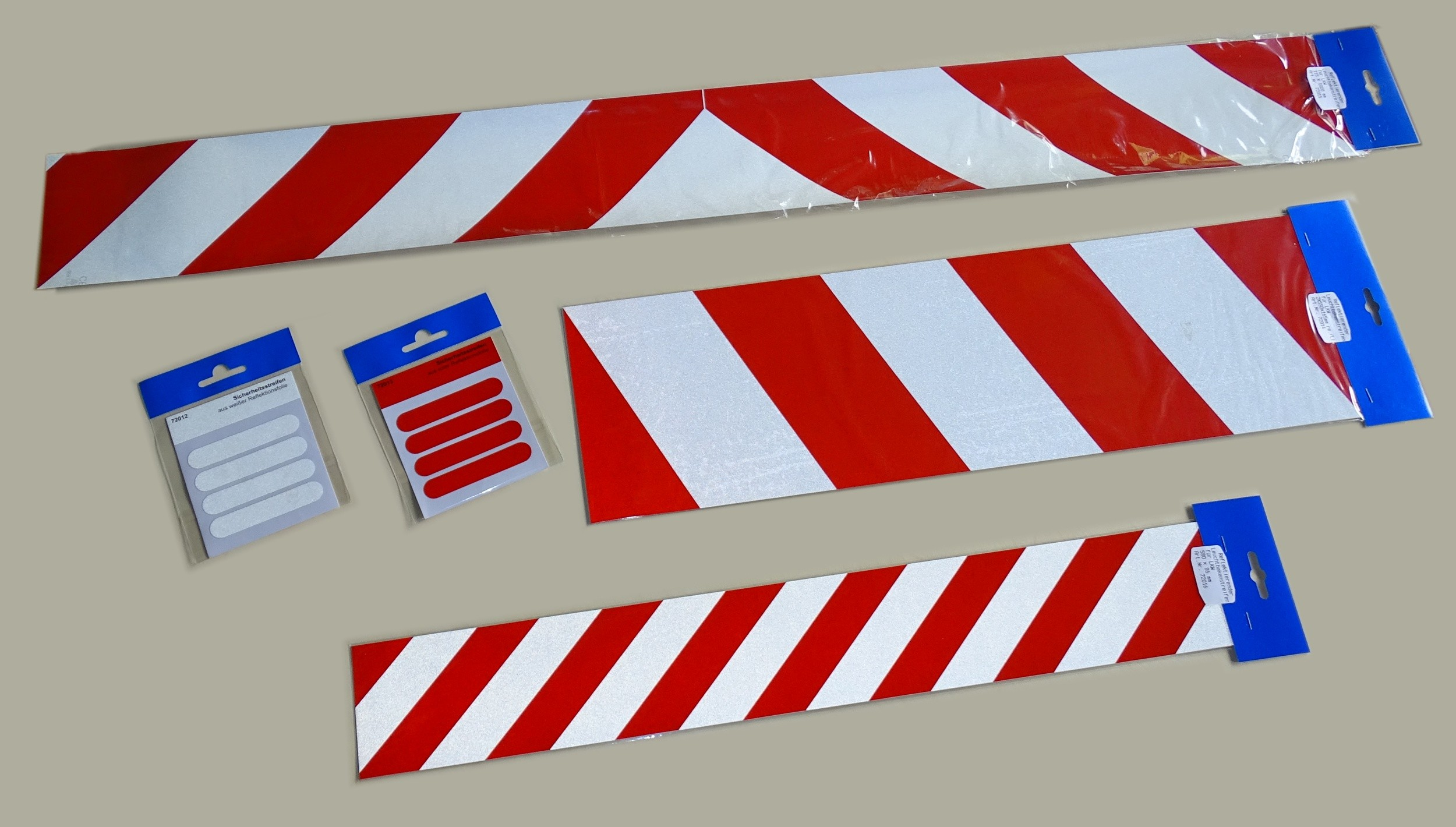 Aufkleber Reflektierender Leuchtbakenstreifen weiß/rot  – Bild 2