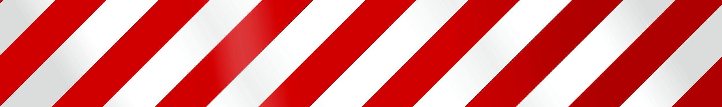 Aufkleber Reflektierender Leuchtbakenstreifen weiß/rot