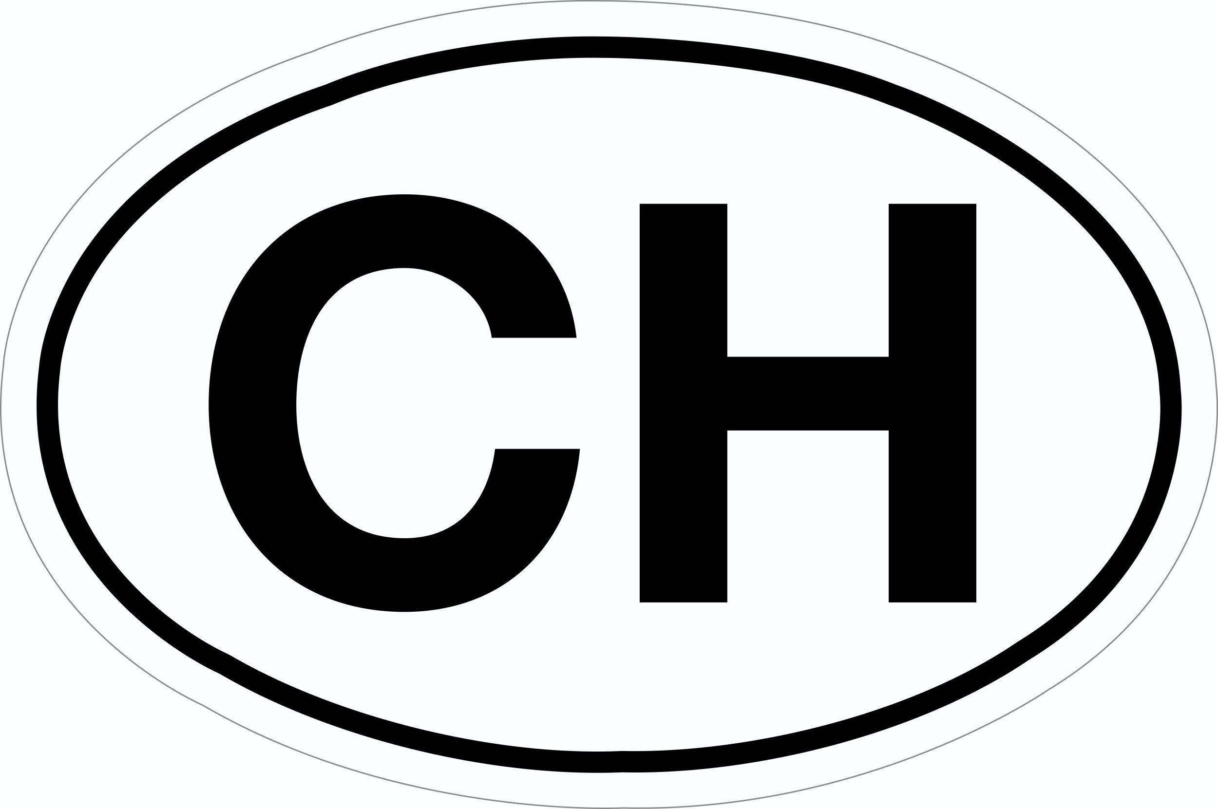 Aufkleber CH-Schild 115 x 170 mm – Bild 1