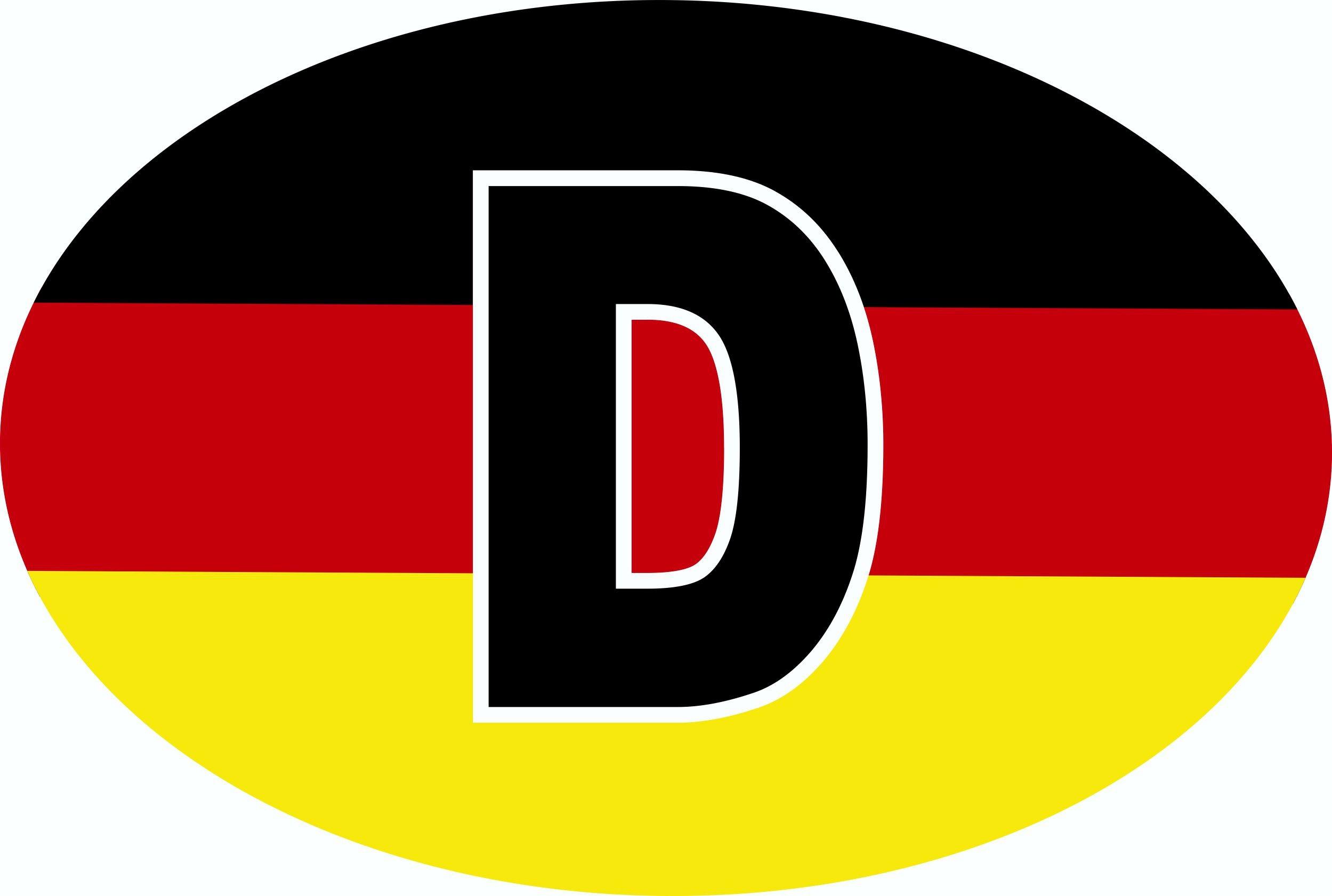 Aufkleber Deutschland-Flagge 125 x 85 mm Deutschland Fanartikel Olympia – Bild 1