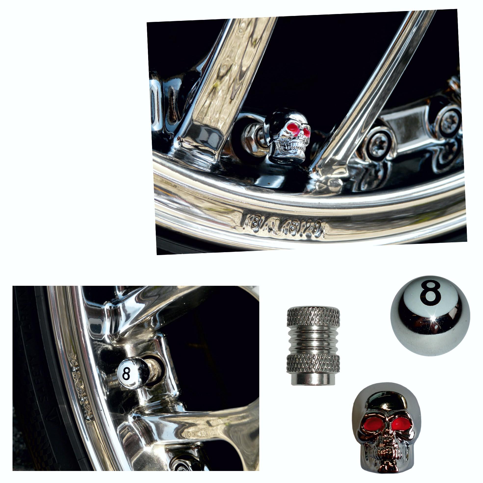 Vent-Caps neutral silver set: 4 pieces – Bild 3