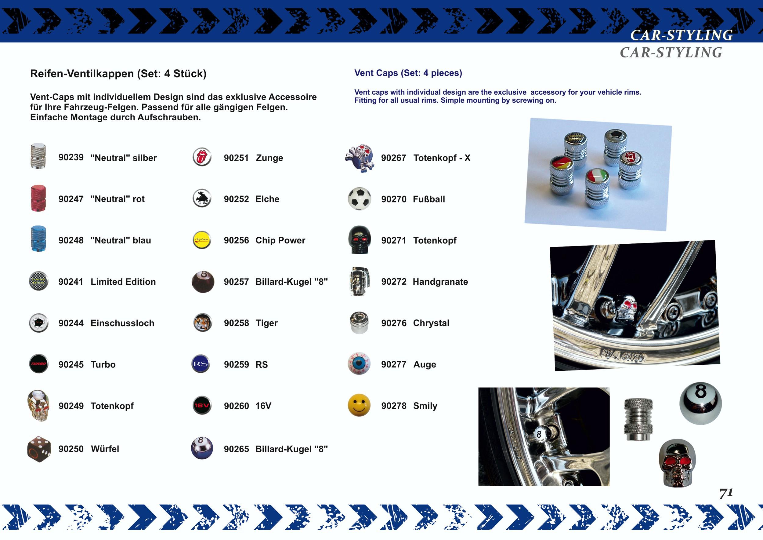 Ventilkappen Vent-Cap Neutral silber 4er-Set – Bild 5
